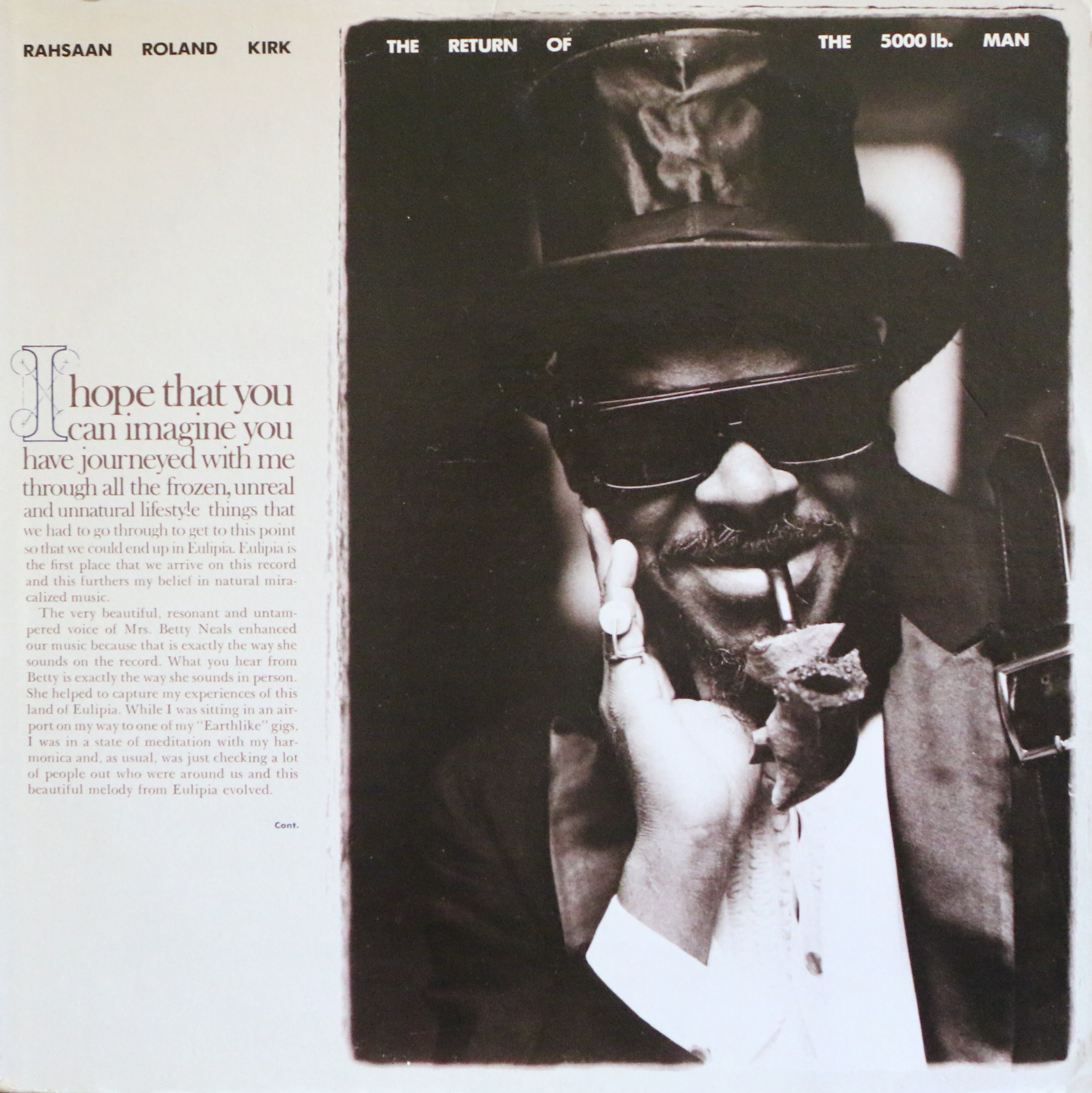 Dig Deep: Rahsaan Roland Kirk - The Return Of The 5,000LB Man - Warner Bros. (1976)